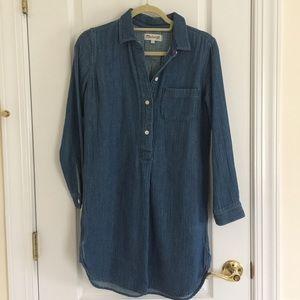 Madewell Chambray  Shirt Dress
